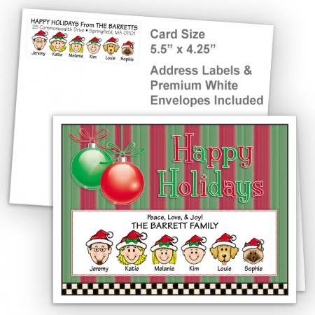 Ornaments 3 Happy Holidays Fold Note Set