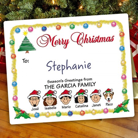 Ornaments Christmas Gift Label