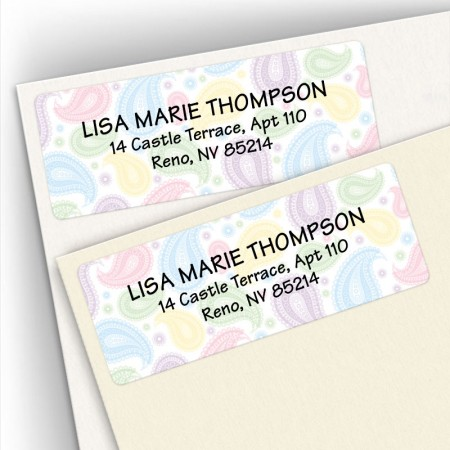 Paisley Address Labels