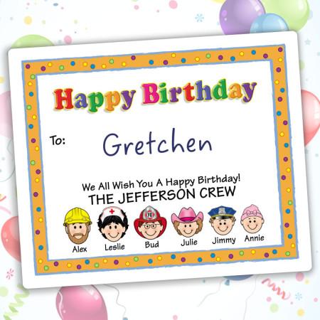 Party Happy Birthday Gift Label