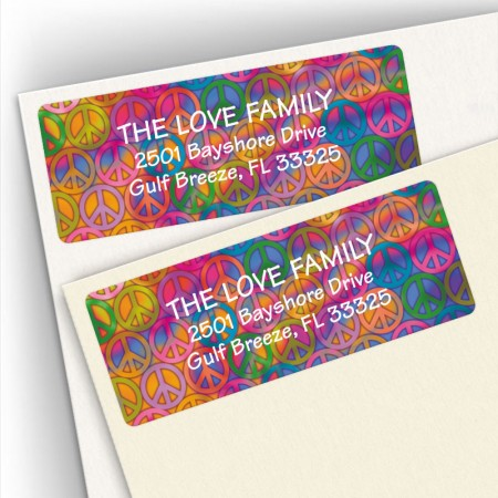 Peace Background Address Labels