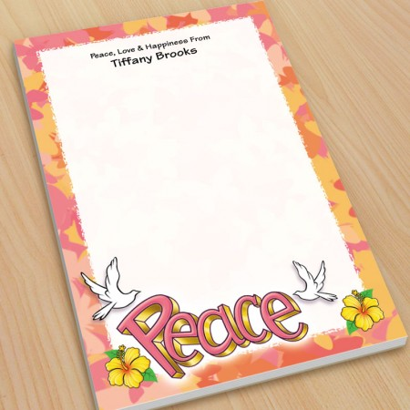 Peace Doves Large Note Pads