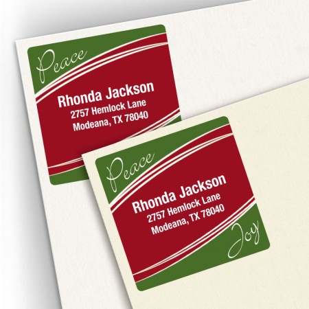 Peace Joy Square Address Labels