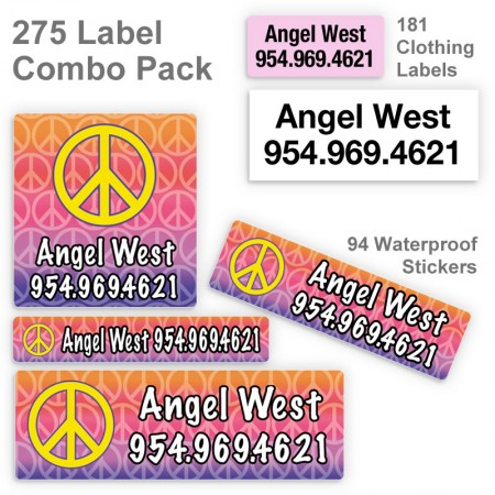 Peace Sign Label Combo Pack