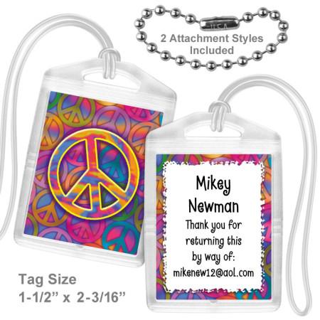 Peace Sign Mini Tag