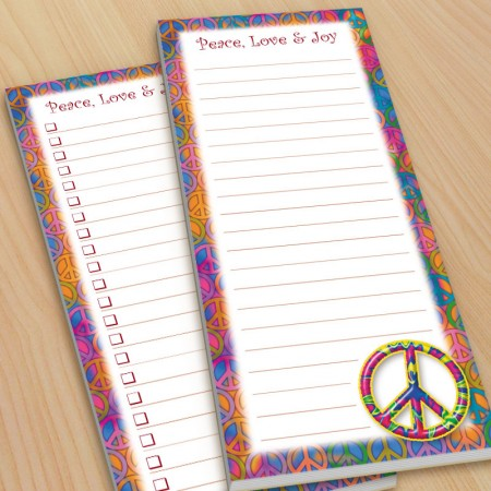 Peace Sign To-Do Pads