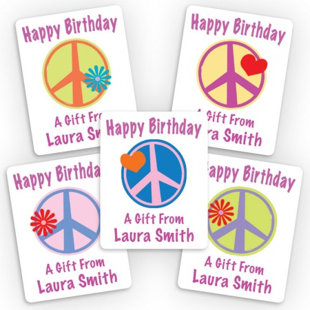 Peace Signs 1 Mini Gift Labels