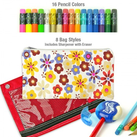 Personalized Pencils with Bag & Sharpener
