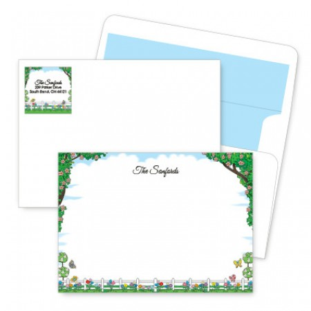 Picket Fence Artistic Correspondence Card Ensembles