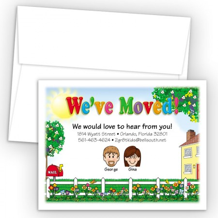 Picket Fence Moving Cards & Announcements