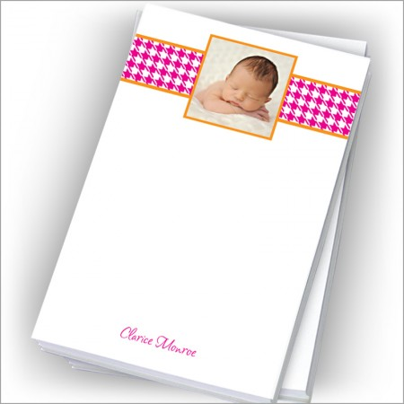 "Pink Houndstooth Photo Pads - 4"" x 6"""