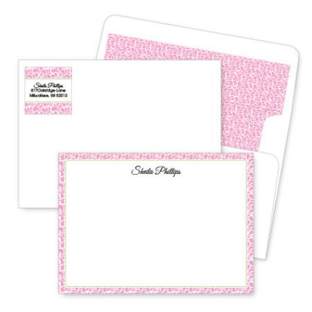 Pink Paisley Artistic Correspondence Card Ensembles