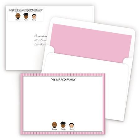 Pink Stripes Bordered Ensemble