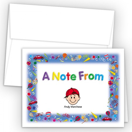 Playtime Foldover Family Note Card