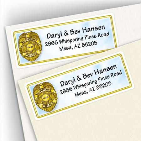 Police Badge Address Labels