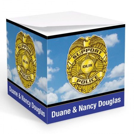 Police Badge Memo Cube