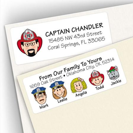 Police & Fireman Address Labels