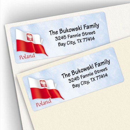 Polish Flag Address Labels