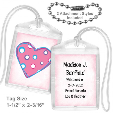 Polkadot Heart Mini Tag