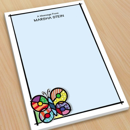 Pop Art Butterfly Large Note Pads