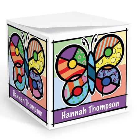 Pop Art Butterfly Memo Cube