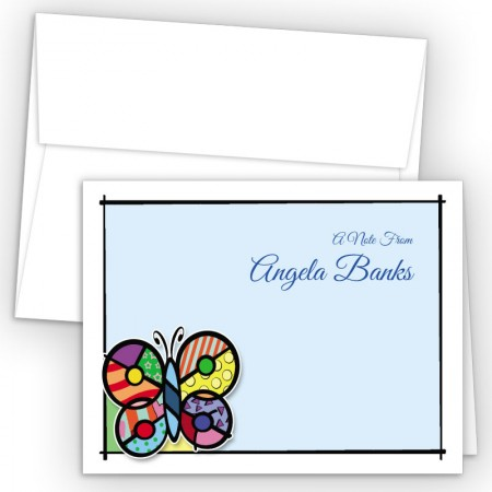 Pop Art Butterfly Note Card