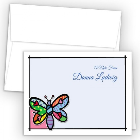 Pop Art Dragonfly Note Card