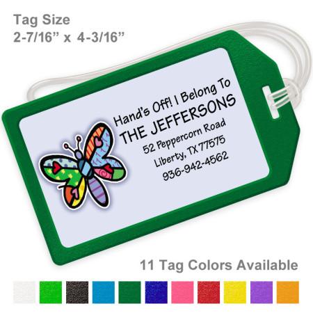 Pop Art Dragonfly Luggage Tag