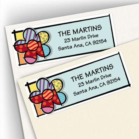 Pop Art Flower Address Labels