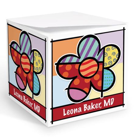 Pop Art Flower Memo Cube