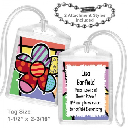 Pop Art Flower Mini Tag