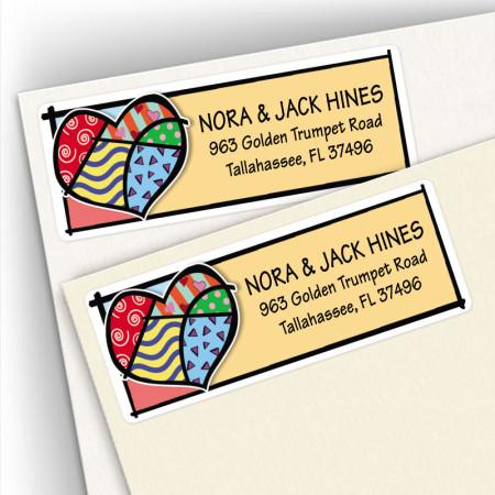 Pop Art Heart Address Labels