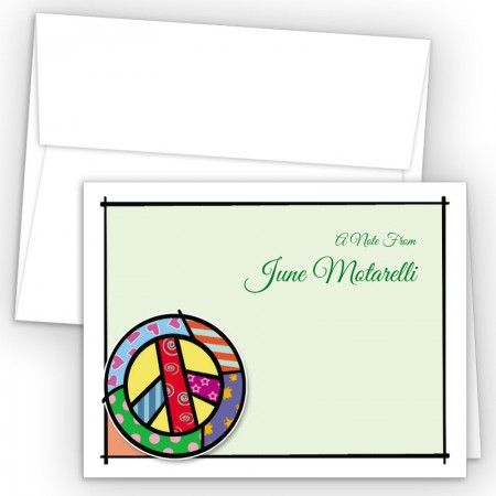 Pop Art Peace Note Card