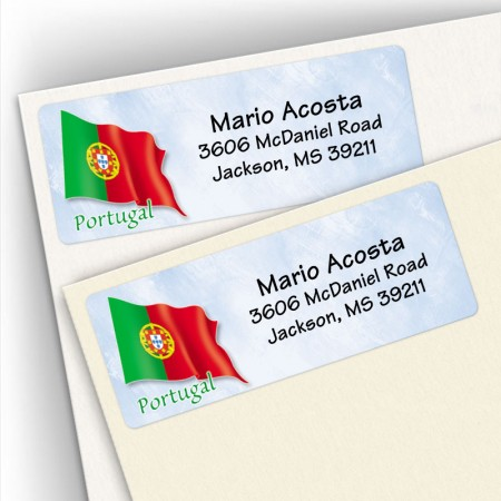 Portuguese Flag Address Labels