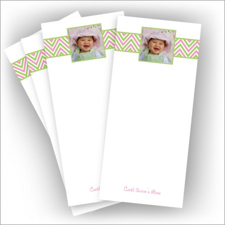 "Preppy Chevron Photo Pads - 3.5"" x 8"""