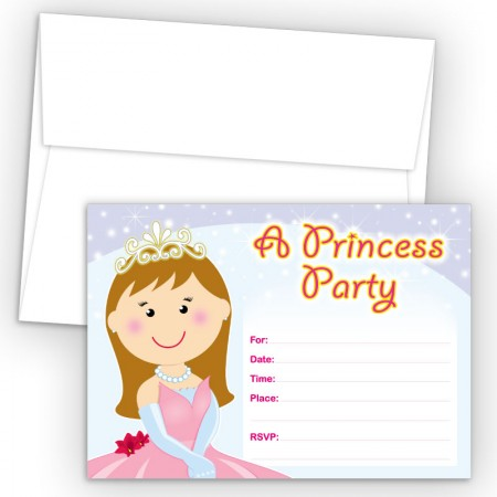 Princess Fill-In Birthday Party Invitations