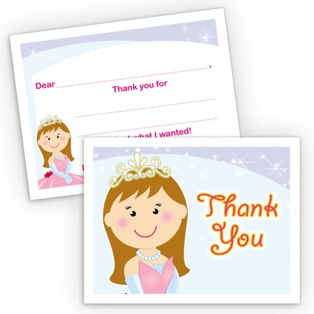 Princess Fill-In Thank You Cards