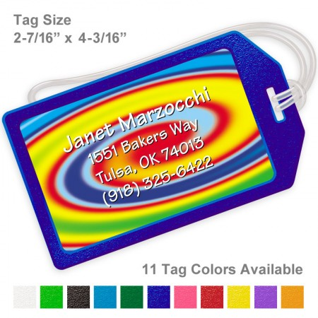 Psychedelic 1 Luggage Tag
