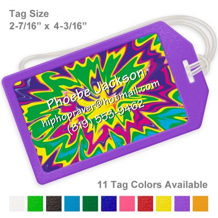 Psychedelic 2 Luggage Tag