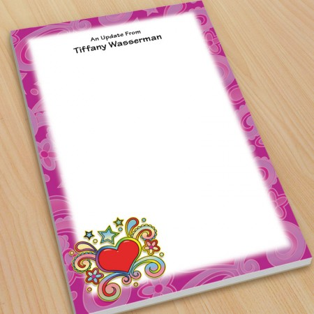 Psychedelic Heart Large Note Pads