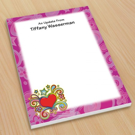 Psychedelic Heart Small Note Pads