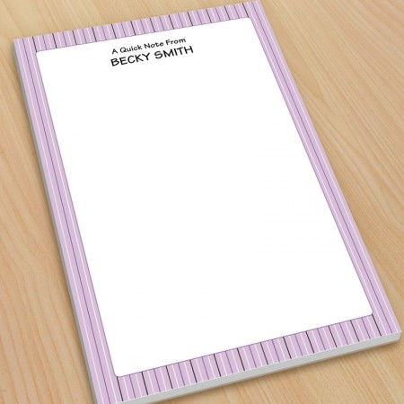 Purple Stripes Large Note Pads
