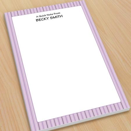 Purple Stripes Large Note Pads