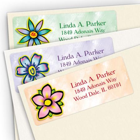 Flowers Address Label Assortment Pack
