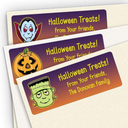 Halloween Treat Bag Stickers Assortment