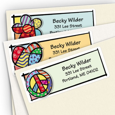 Pop Art Address Label Assortment Pack