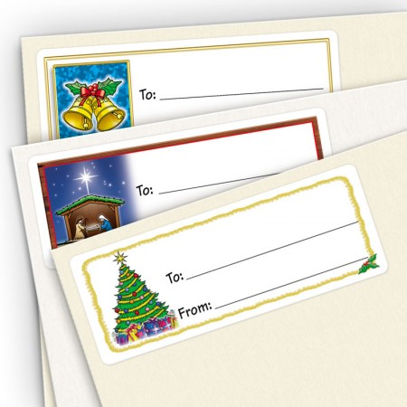 Merry Christmas Small Gift Labels