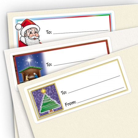 Happy Holidays Gift Labels