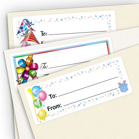 Small Birthday Gift Labels