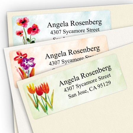 Watercolor Flower Address Label Assortment Pack